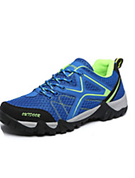 Women's Men's Sneakers Spring Fall Comfort Tulle Athletic Flat Heel Lace-up Blue Gray Fuchsia Royal Blue Hiking