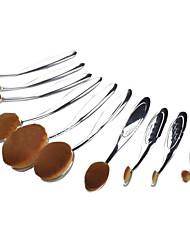 10 Conjuntos de pincel Escova de Cabelo de Cabra Portátil Plastic Rosto ShangYang