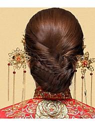 Women's Alloy Headpiece-Wedding Hair Stick 1 Piece Gold Flower