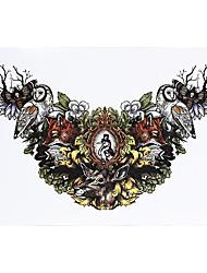 1pc Women Men Tattoo Grass Bird Deer Picture Design Body Arm Waist Chest Art Temporary Tattoo Sticker HB-431