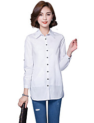 Women's Casual/Daily Simple Loose Plus Size White Shirt
