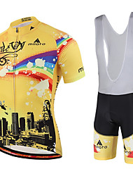 Miloto® Cycling Jersey with Bib Shorts Women's / Men's / Kid's / Unisex Short Sleeve BikeBreathable / Quick Dry / Moisture Permeability /