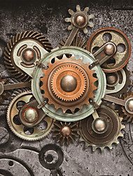 JAMMORY 3D Wallpaper For Home Contemporary Wall Covering Canvas Material Mechanical Gear3XL(14'7''*9'2'')