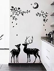 Animaux Stickers muraux Autocollants avion Autocollants muraux décoratifs Matériel Lavable Décoration d'intérieur Calque Mural
