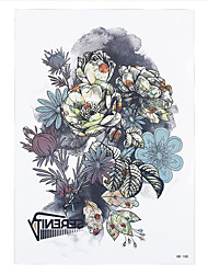 1pc Flower Picture Decal Tattoo Design Women Temporary Body Arm Sleeve Shouder Art Tattoo Sticker HB-188