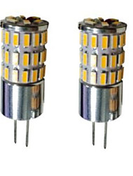 G4 Luces LED de Doble Pin T 48 SMD 3014 300-450 lm Blanco Cálido Blanco Fresco Blanco Natural Decorativa DC 12 V 2 piezas