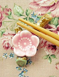 2Piece/Box Japanese Cherry Blossoms Chopsticks Holder Bridal Wedding Shower Favors