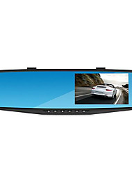 Blue Screen 4.3 Inch Rearview Mirror Tachograph Single Lens Video 1080P Lanbo Antidazzling HD Wide-Angle Vision