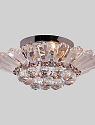 #(Max 60W) Flush Mount ,  Modern/Contemporary Electroplated Feature for Crystal Metal Living Room / Bedroom / Dining Room