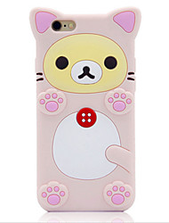 The New Cute Corner of the Biological Easy Bear Silicone Cases for iPhone5/5S/SE/6/6s/6 Plus/6S Plus