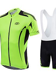 Fastcute Maglia con salopette corta da ciclismo Per donna Per uomo Bambini Unisex Manica corta BiciclettaSalopette Felpa Maglietta/Maglia
