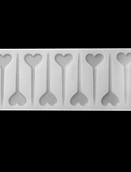 Silicone Haert Shape Chocolate Mold Cake Chocolate Plugin Mould Baking Accessories Cake Decorating