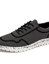 Femme-Décontracté-Noir / Vert / Gris-Talon Plat-Confort-Sneakers-Tissu