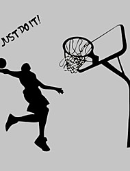 AWOO® New Basketball Player Pattern Jordan Wall Stickers Home Decor Just Do It Vinyl Stickers For Kids Room Decoration