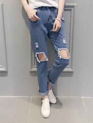 Pantaloni Da donna Jeans Semplice Lino Anelastico