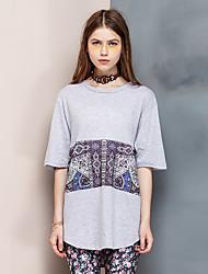 Herz Soul® Damen Rundhalsausschnitt Kurze Ärmel T-Shirt Lila-26AD21918