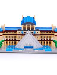 YZ Diamond Model Building Kits Blocks Set The Louvre Museum Assemble Toy 1392pcs