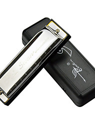 Silver small specification blues harmonica