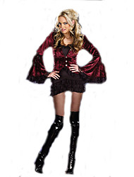 Cosplay Costumes Vampire Movie Cosplay Red Solid Top / Dress Halloween / Christmas / New Year Female Terylene / Polyester