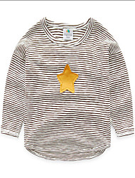 Baby Boys Striped T-Shirt Hitz Casual Long-Sleeved Shirt