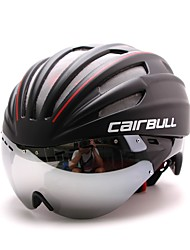 CAIRBULL 2016 Latest Eps Bike Casque MTB Race Hat Bicycle Cycling Helmet Short-tail Time Trial Aero Track With Glasses