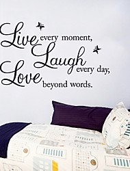 Live Laugh Love English Word Wall Stickers Fashion DIY Living Room Wall Decals
