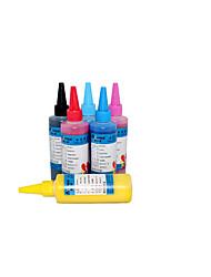 imprimante d'encre 100ml epn 100ml un pack de 6 boîtes, chaque boîte de couleurs différentes, noir, bleu, rouge, jaune, bleu clair, ligh