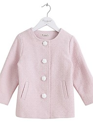 Girl's Casual/Daily Solid Blouse,Cotton Winter / Fall Pink