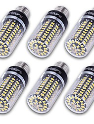 Youoklight 6pcs haute luminosité 100 * 5736 smd e27 e14 e12 10w 800-850lm projecteur led lampe bougie