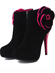 Feminino-Botas-Coturno Sapatos clube Light Up Shoes-Salto Agulha-Azul Vermelho-Courino-Social Casual