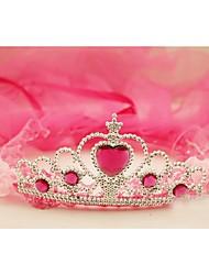 Flower Girl's Fabric Headpiece-Wedding Tiaras 1 Piece Purple / Pink / Fuchsia Round 50CM