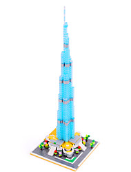 Burj Khalifa Tower Dubai Diamond Blocks Architecture Nano Mini Bricks Figure