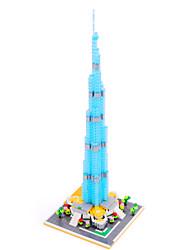 Burj Khalifa Tower Dubai Diamond Blocks Architecture Nano Mini Bricks Figure