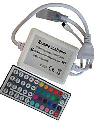 44-Tasten-Fernbedienung für 220v führte rgb Lichtstreifen mit EU-Stecker (AC200-240V)