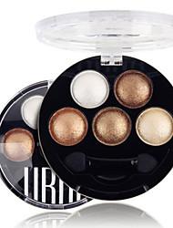5 Color in 1 Palette Lidschattenpalette Trocken / Matt / Schimmer Lidschatten-Palette Puder NormalAlltag Make-up / Feen Makeup / Cateye