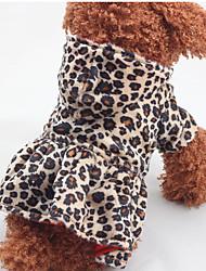 Chat / Chien Costume / Robe / Tenue Marron Vêtements pour Chien Hiver / Printemps/Automne Léopard Léopard / Vacances