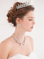 Women's Alloy Headpiece-Wedding / Casual Tiaras / Headbands / Wreaths / Hair Tool 1 Piece Silver Round free size