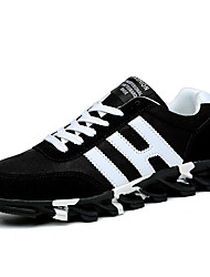 Men's Shoes Athletic Fabric Fashion Sneakers Black/ Blue/White