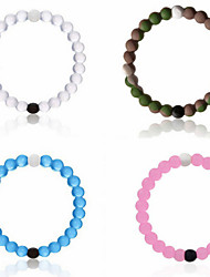 Bracelet/Strand Bracelet,Sports Yoga Power Balance Bracelet 4 Color Mud/Water Natural Gift Bead Silicone Jewelry Find your Balance 1 pcs