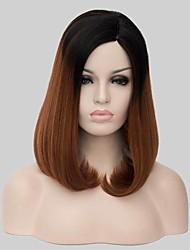 neue Ankunft ombre 1b / 30 schwarz braun mittlere lange gerade bobo Haar mit Seiten Knall.