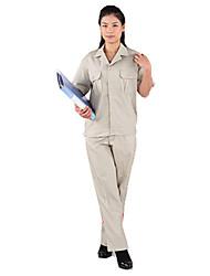 мужчины и женщины скрытой блокировки с короткими рукавами обслуживание одежды пятно rresistant (провести серый абрикос)