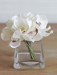 "12.6"" 1 Bouquet Cymbidium Real Touch Artificial Orchids Table Decoration Flower  Home Decor Artificial Flowers"