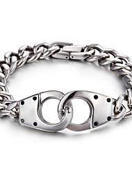 kalen®2016 chegada nova moda jóias 316l pulseira chian ligação de aço inoxidável para o sexo masculino