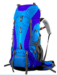 65L L Backpack Traveling Outdoor Multifunctional Red / Blue Nylon