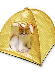 Katze Betten Haustiere Matten & Polster Tragbar / Zelt grün / rosa / gelb Terylen