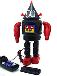Novelty Toy  Puzzle Toy  Educational Toy  Wind-up Toy Puzzle Toy  Warrior Robot Metal Black For Kids