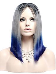 ombre longue ligne droite en dentelle synthétique perruque avant il nuance de couleur 1b noir chaleur -Purple perruques de cheveux