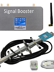 LCD Display GSM 900MHz Mobile Signal Repeater Booster Amplifier with Whip and Yagi Antennas Grey