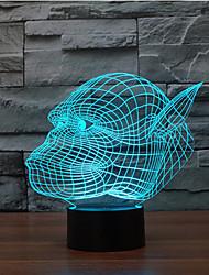 orangutanes touch oscurecimiento 3d llevó la luz de la noche de la lámpara de la decoración ambiente 7colorful de iluminación novedoso luz