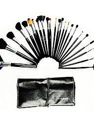 24 Makeup Brushes Set Goat Hair Portable Wood Face Others